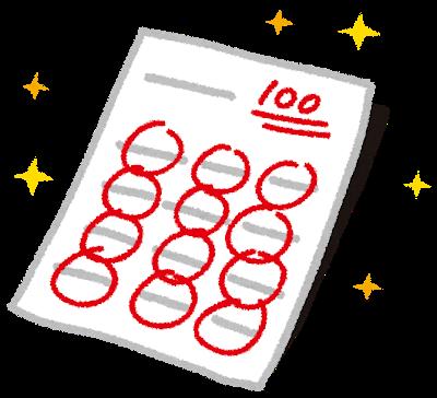 正しい問題集で定期テスト高得点のイメージ